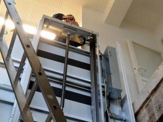 Montagezeit Serie 710: Aufzugsfahrbahn