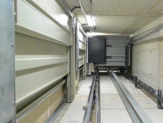 Aufzugsschacht Serie 751: 1.450 mm x 1.530 mm für einen rollstuhlgeeigneten Aufzug mit Kabine